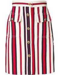 Gucci - Striped Short Skirt - Lyst