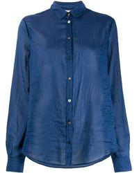 Forte Forte Crease Effect Sheer Shirt - Blue