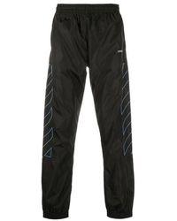 Off-White c/o Virgil Abloh Diagonal Stripes Pants - Black
