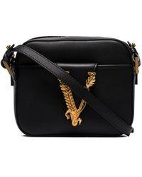 Versace Virtus Crossbody Bag - Black