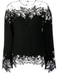 Ermanno Scervino Embroidered Panel Jumper - Black