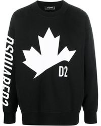 DSquared² Logo-print Sweatshirt - Black