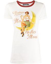 Dolce & Gabbana T-shirt con stampa - Bianco