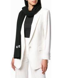 Givenchy Logo Cashmere Scarf - Black