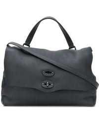 Zanellato Postina S Bag In Black Cachemire Pura Leather