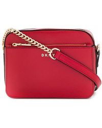 DKNY Camera Bag Bryant In Pelle - Rosso