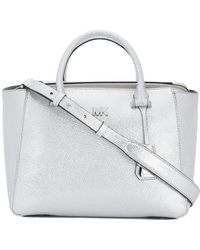 MICHAEL Michael Kors - Metallic Structured Tote Bag - Lyst