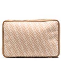 Fendi Logo Wool& Big Beauty-case - Multicolour