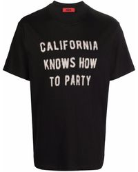 424 Slogan-print Cotton T-shirt - Black