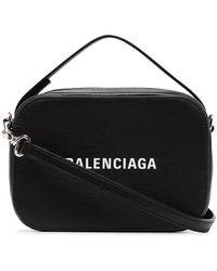 Balenciaga Everyday Xs Leather Camera Bag - Black