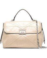 Givenchy Id Leather Shoulder Bag - Natural