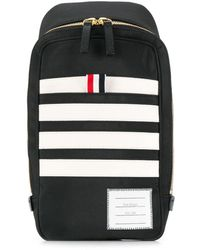 Thom Browne Striped Belt Bag - Black