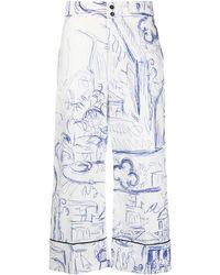 Erika Cavallini Semi Couture Pantaloni crop - Multicolore