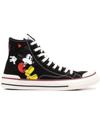 MOA Mickey Mouse High-top Trainers - Black