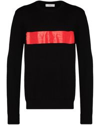 Givenchy Logo-band Crew-neck Sweater - Black