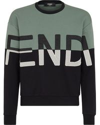 Fendi Logo-embroidered Sweatshirt - Black