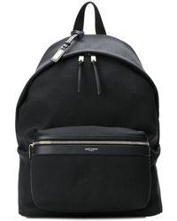 Saint Laurent Classic Zipped Backpack - Black