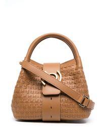 Zanellato Zoe Woven Leather Tote Bag - Brown
