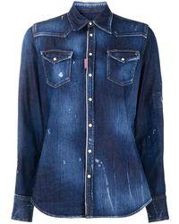 DSquared² Long-sleeve Denim Shirt - Blue