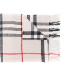 Burberry Check Scarf - Natural