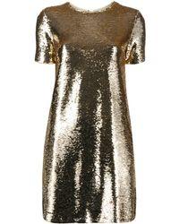 Emporio Armani Sequin Tunic T-shirt Mini Dress - Metallic