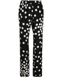 Valentino Pants Black - Multicolor