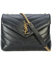 Saint Laurent Loulou Shoulder Bag - Black