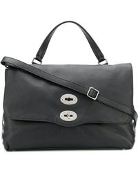Zanellato Postina Leather Bag - Black