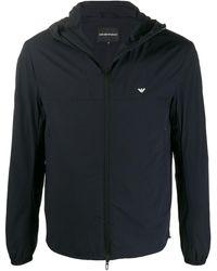Emporio Armani Hooded Sport Jacket - Blue