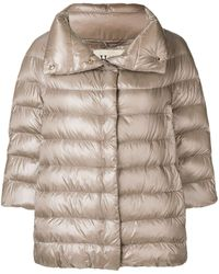 Herno Puff Coat - Natural