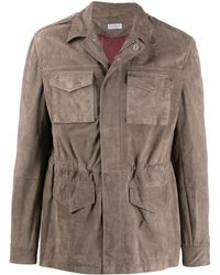 Brunello Cucinelli Multi-pocket Shirt Jacket - Grey