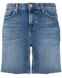7 For All Mankind Denim Shorts - Blue