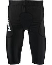 Marine Serre Training Shorts With Logo - Black