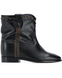 Isabel Marant Cluster Leather Ankle Boots - Black