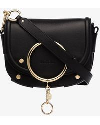 See By Chloé Black Small Ring Cross Body Bag