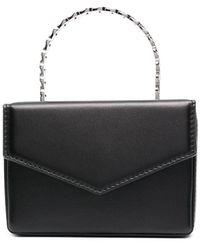 AMINA MUADDI Pernille Leather Mini Bag - Black