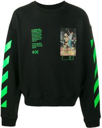 Off-White c/o Virgil Abloh Pascal Painting Sweatshirt - Black