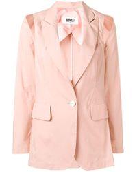 MM6 by Maison Martin Margiela Cut-out Detail Blazer - Pink