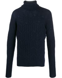 Drumohr Raised Knit Jumper - Blue