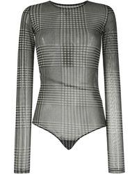MM6 by Maison Martin Margiela Body semi trasparente - Nero