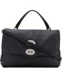 Zanellato Postina Leather Shoulder Bag - Black