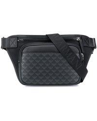 Emporio Armani Monogram Belt Bag - Black
