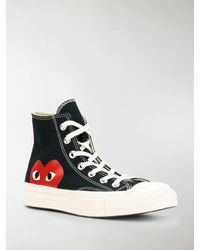 COMME DES GARÇONS PLAY X Converse High-top Sneakers - Black