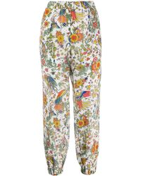 Tory Burch Pantaloni crop a fiori - Multicolore