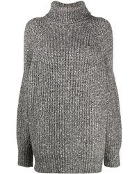 Étoile Isabel Marant Oversized Roll-neck Jumper - Grey
