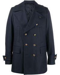 Gabriele Pasini Double-breasted Military Jacket - Blue
