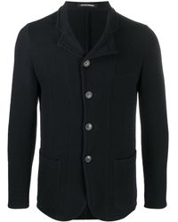Emporio Armani Single-breasted Wool Blazer - Blue