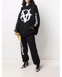 Vetements Hoodie With Logo - Black