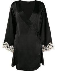 La Perla Maison Silk Short Robe - Black