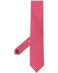 Ferragamo Cravatta In Seta - Rosso